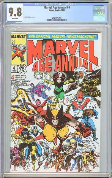 Marvel Age Annual #4 CGC 9.8 WP 1988 2137476003 1st Damage Control