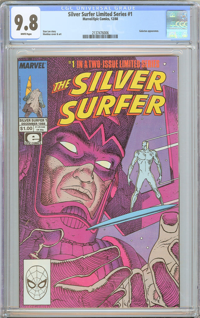 Silver Surfer Limited Series #1 CGC 9.8 White Pages 1988 2137476006 Galactus