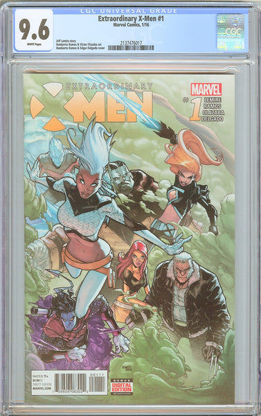 Extraordinary X-Men #1 CGC 9.6 WP 2016 2137476017 1st Print Ramos Cover