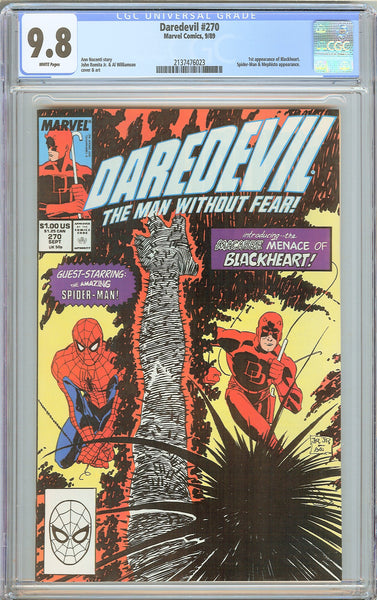 Daredevil #270 CGC 9.8 WP 1989 2137476023 1st App of Blackheart