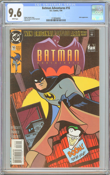 Batman Adventures #16 CGC 9.6 WP 1994 2138564004 Joker appearance