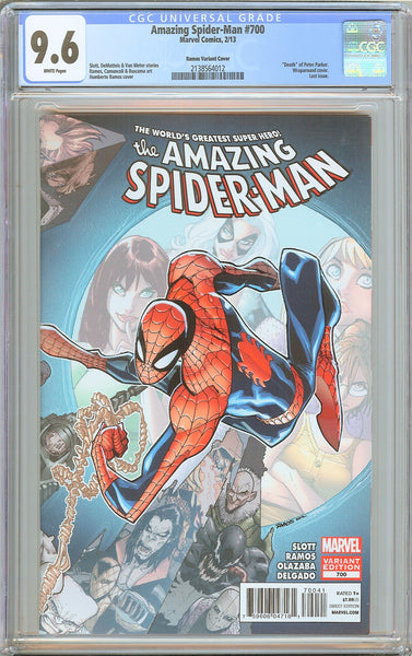 Amazing Spider-Man #700 CGC 9.6 White Pages 2138564012 Ramos Variant