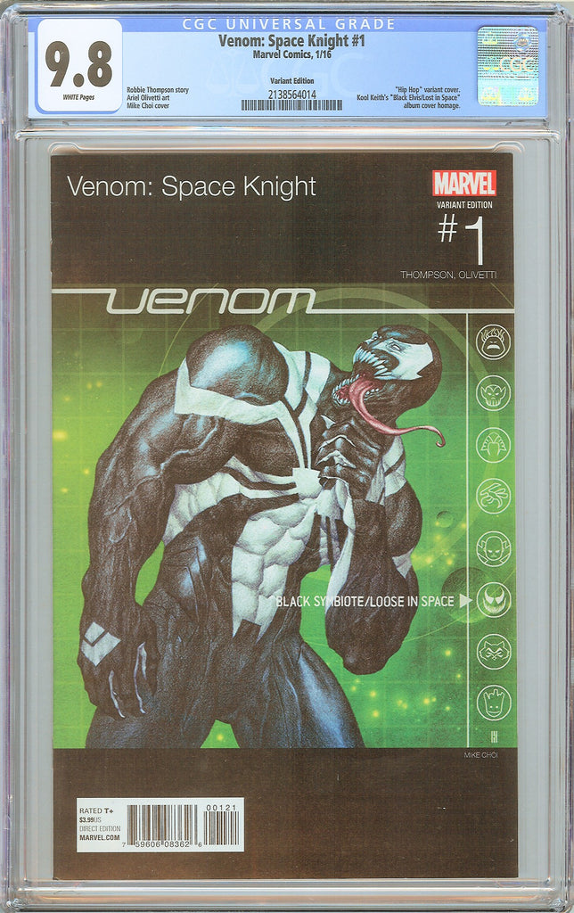 Venom Space Knight #1 CGC 9.8 White Pages 2138564014 Variant Edition