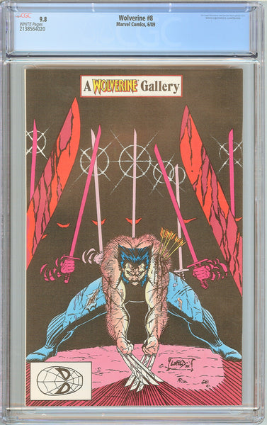 Wolverine #8 CGC 9.8 White Pages (1989) 2138564020
