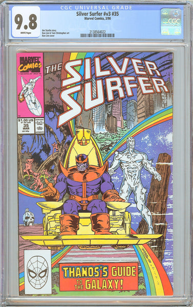Silver Surfer #v3 #35 CGC 9.8 WP 1990 2138564022 Thanos Cover!