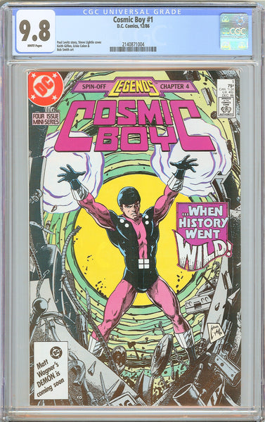 Cosmic Boy #1 CGC 9.8 White Pages (1986) 2140871004