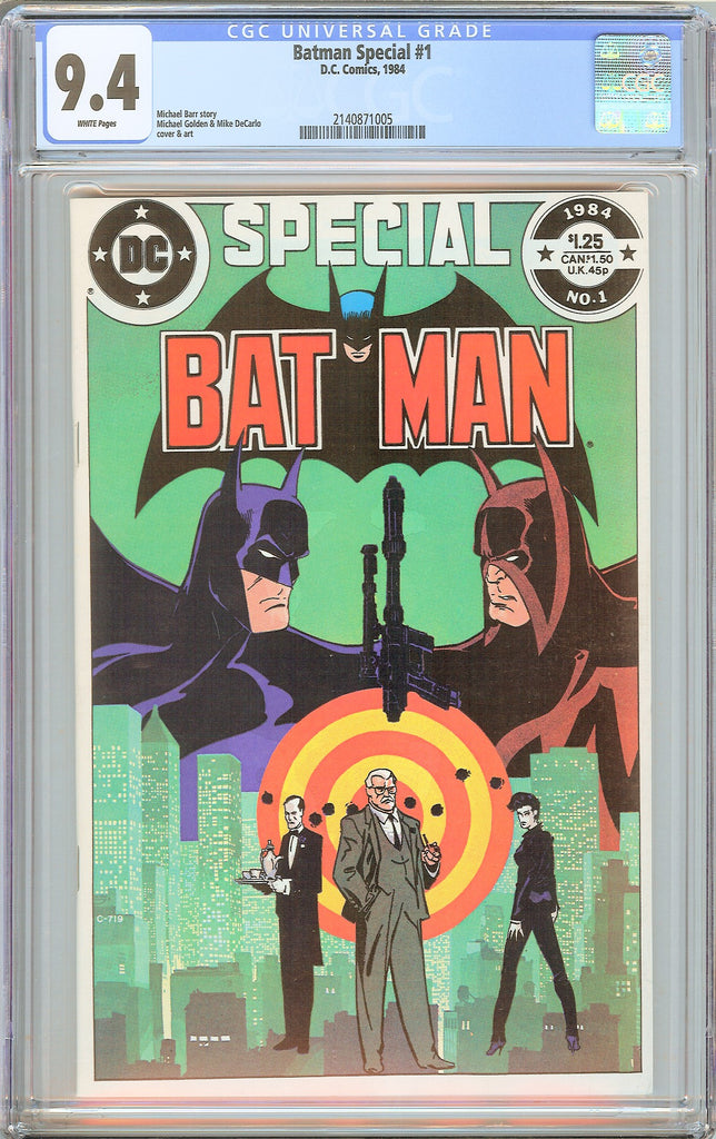 Batman Special #1 CGC 9.4 White Pages (1984) 2140871005