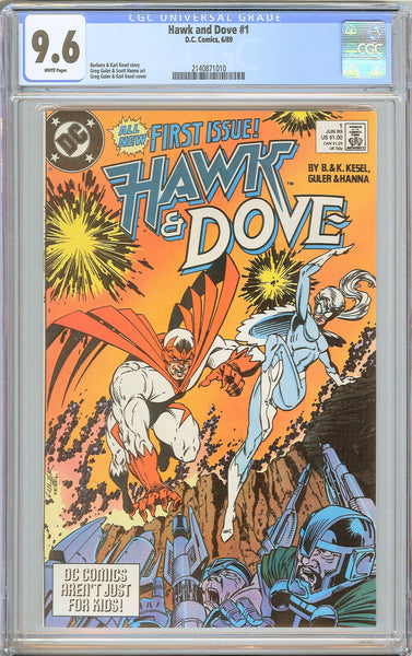 Hawk and Dove #1 CGC 9.6 White Pages (1989) 2140871010