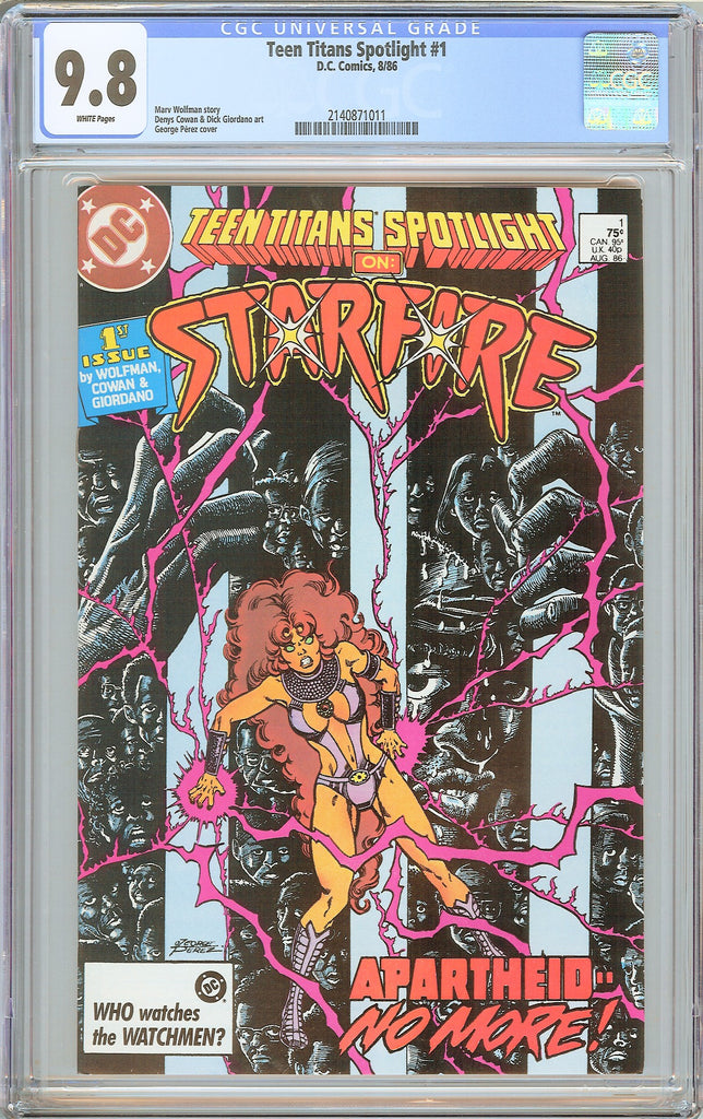 Teen Titans Spotlight #1 CGC 9.8 White Pages (1986) 2140871011