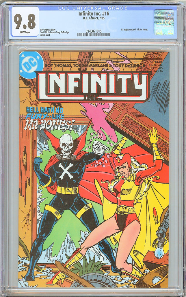 Infinity Inc. #16 CGC 9.8 White Pages 1985 2140871015 Todd McFarlane