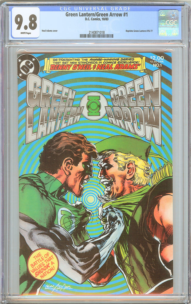 Green Lantern/Green Arrow #1 CGC 9.8 White Pages 1983 2140871018