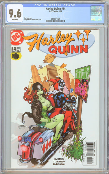 Harley Quinn #14 CGC 9.6 White Pages (2002) 2140871025