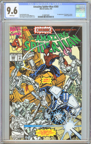 Amazing Spider-Man #360 CGC 9.6 WP 1992 2140875001 1st Carnage in Cameo
