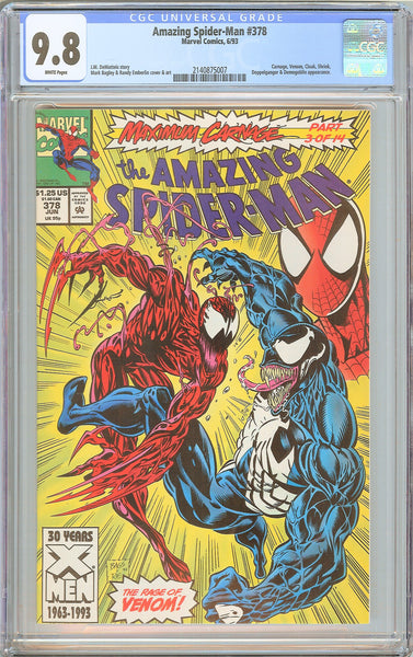 Amazing Spider-Man #378 CGC 9.8 White Pages (1993) 2140875007
