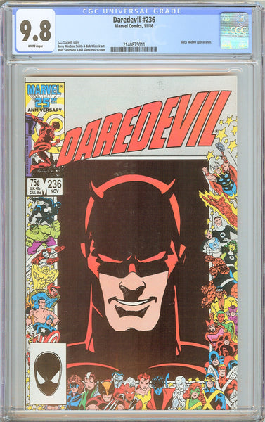 Daredevil #236 CGC 9.8 White Pages (1986) 2140875011