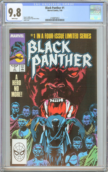 Black Panther #1 CGC 9.8 White Pages (1988) 2140875012