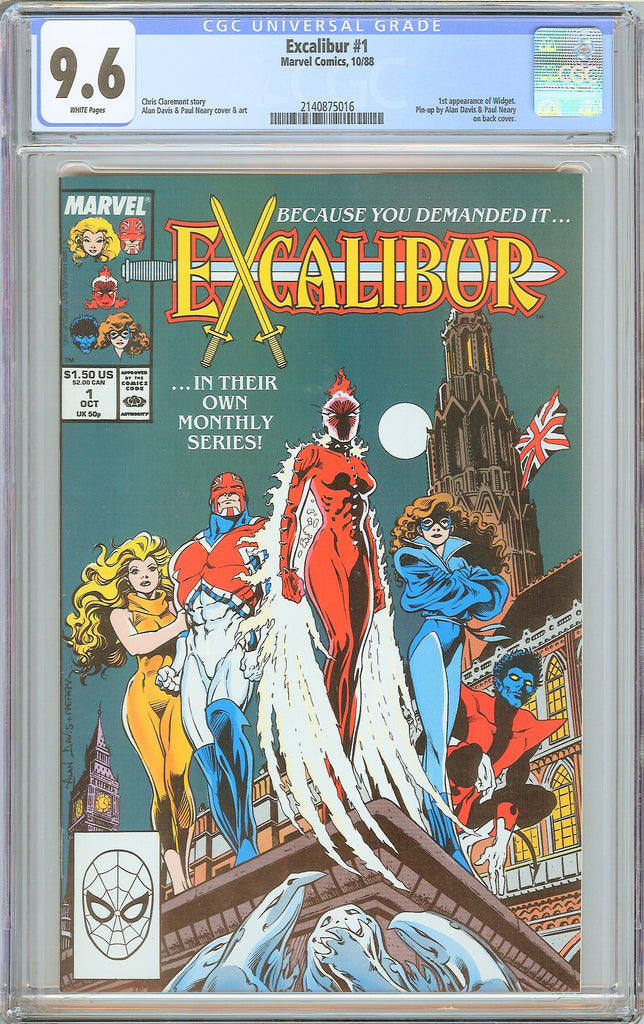 Excalibur #1 CGC 9.6 White Pages (1988) 2140875016