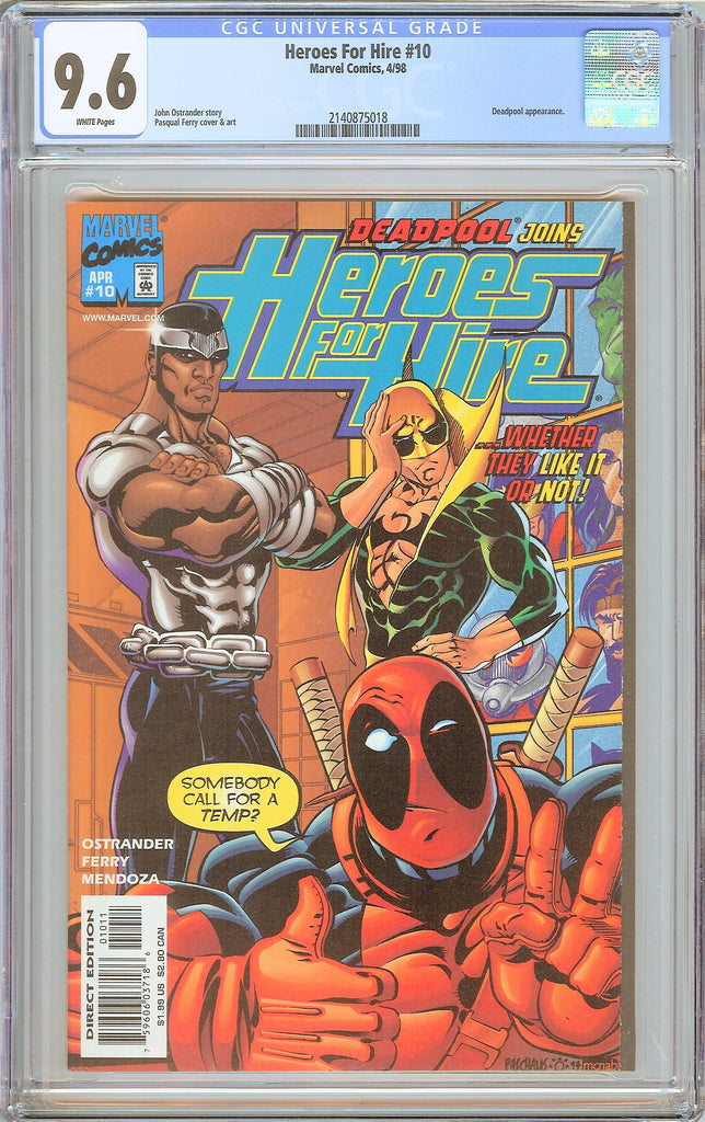 Heroes For Hire #10 CGC 9.6 White Pages 1998 2140875018 Deadpool