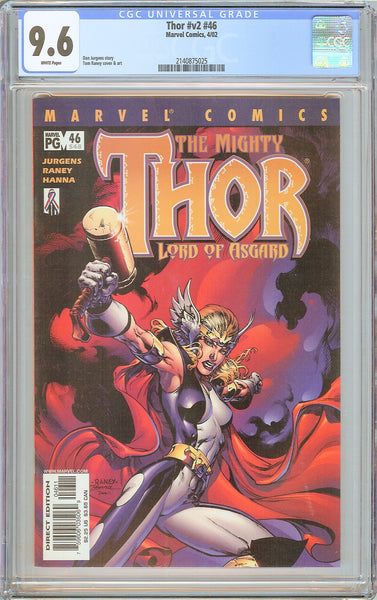 Thor #v2 #46 CGC 9.6 White Pages 2002 2140875025