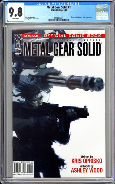 Metal Gear Solid #1 CGC 9.8 White Pages 2004 3703305021