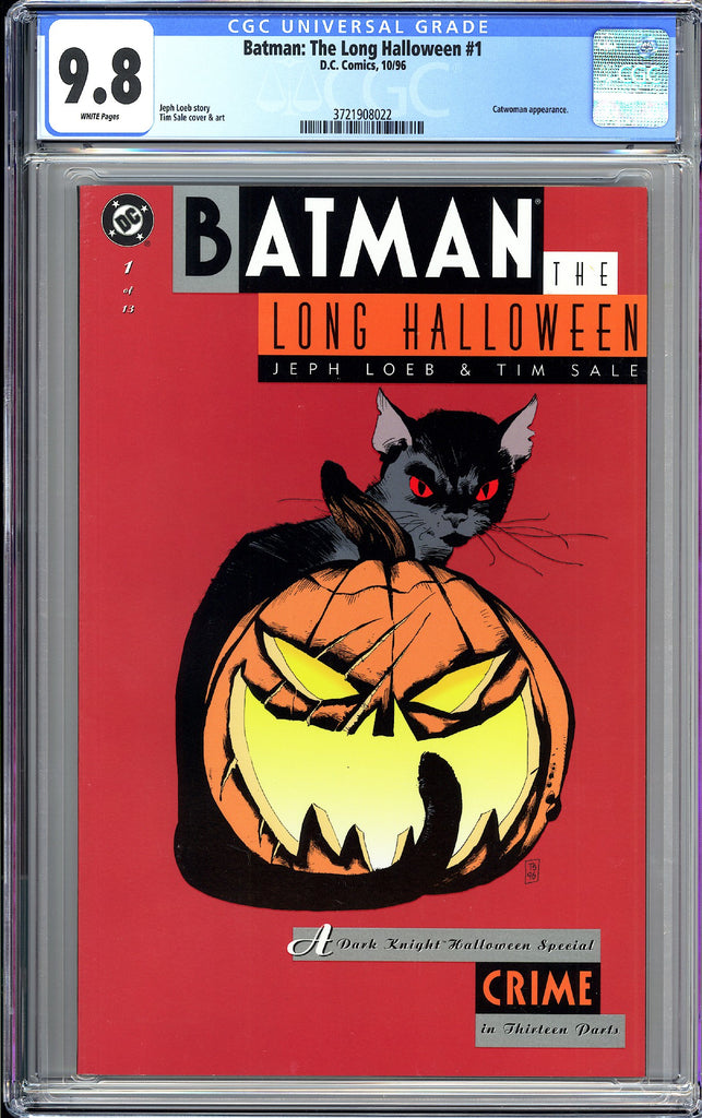 Batman The Long Halloween #1 CGC 9.8 WP 1996 3721908022  1st App. Alberto Falcon