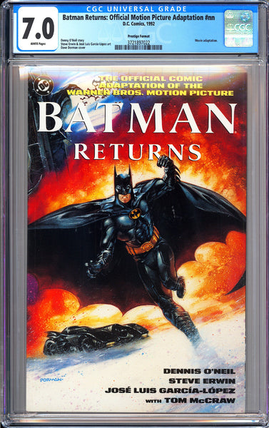 Batman Returns Official Motion Picture Adaptation CGC 7.0 WP 1992 3721897022 Pre