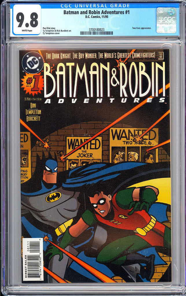 Batman & Robin Adventures #1 CGC 9.8 WP 1995 3700180023 Two-Face App.