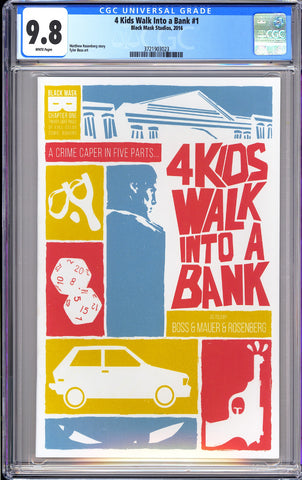 4 Kids Walk Into a Bank #1 CGC 9.8 WP 2016 3721903023 Optioned