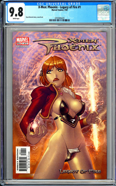 X-Men Phoenix Legacy of Fire #1 CGC 9.8 White Pages 3703305023