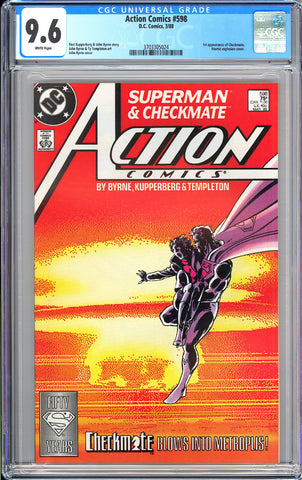 Action Comics  #598 CGC 9.6 White Pages (1988) 3703305024