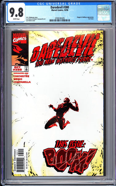 Daredevil #380 CGC 9.8 White Pages 1998 3700181025 Last Issue