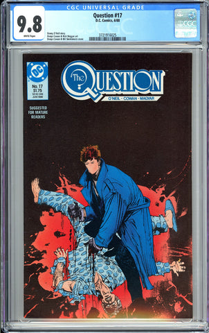 Question #17 CGC 9.8 WP 1988 3721916025 1st Rorschach from Watchmen