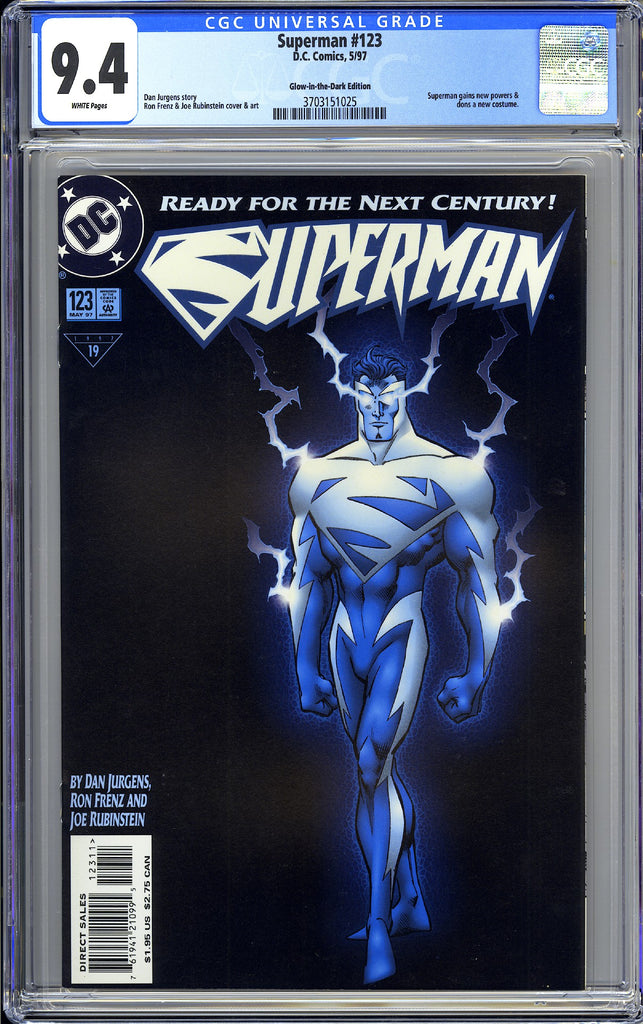 Superman #123 CGC 9.4 White Pages 3703151025 Glow-in-the-Dark Edition