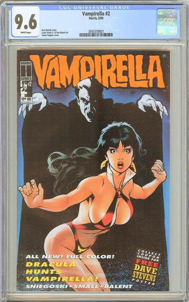 Vampirella #2 CGC 9.6 White Pages (1993) 3693359001 Adam Hughes Cover