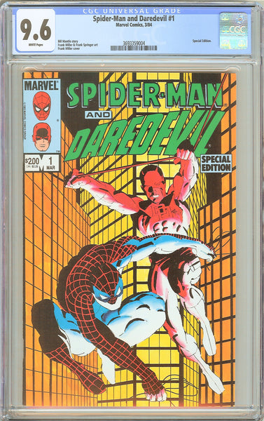 Spider-Man & Daredevil #1 CGC 9.6 White Pages 3693359004 Special Edition