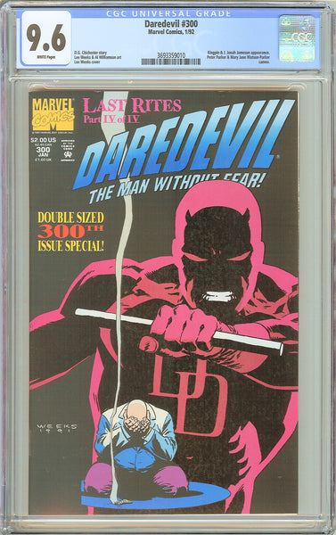 Daredevil #300 CGC 9.6 White Pages 1992 3693359010