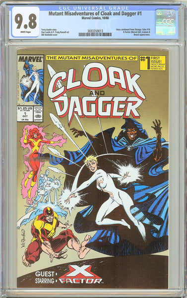 Mutant Misadventures of Cloak and Dagger #1 CGC 9.8 WP 1988 3693359013
