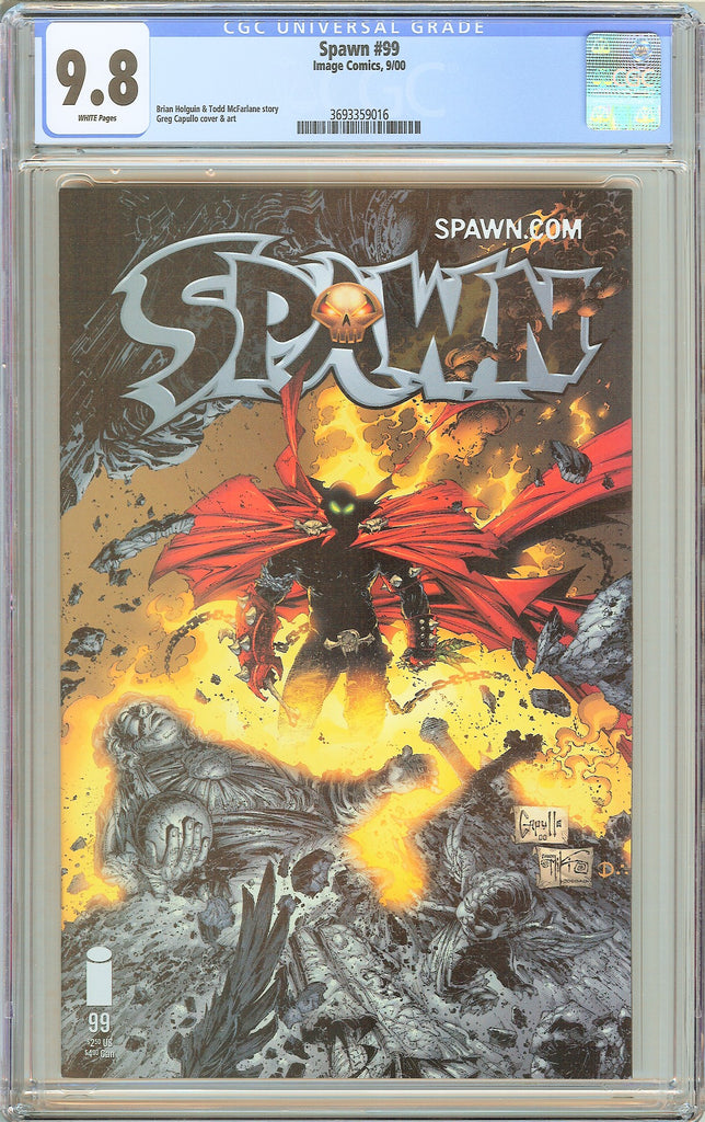 Spawn #99 CGC 9.8 White Pages (2000) 3693359016