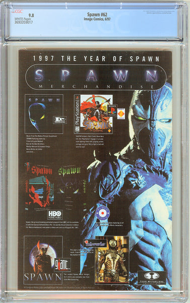Spawn #62 CGC 9.8 White Pages (1997) 3693359017 Angela appearance