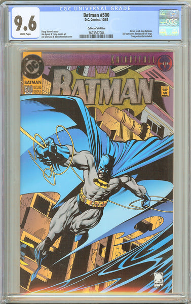 Batman # 500 CGC 9.6 White Pages (1993) 3693367004