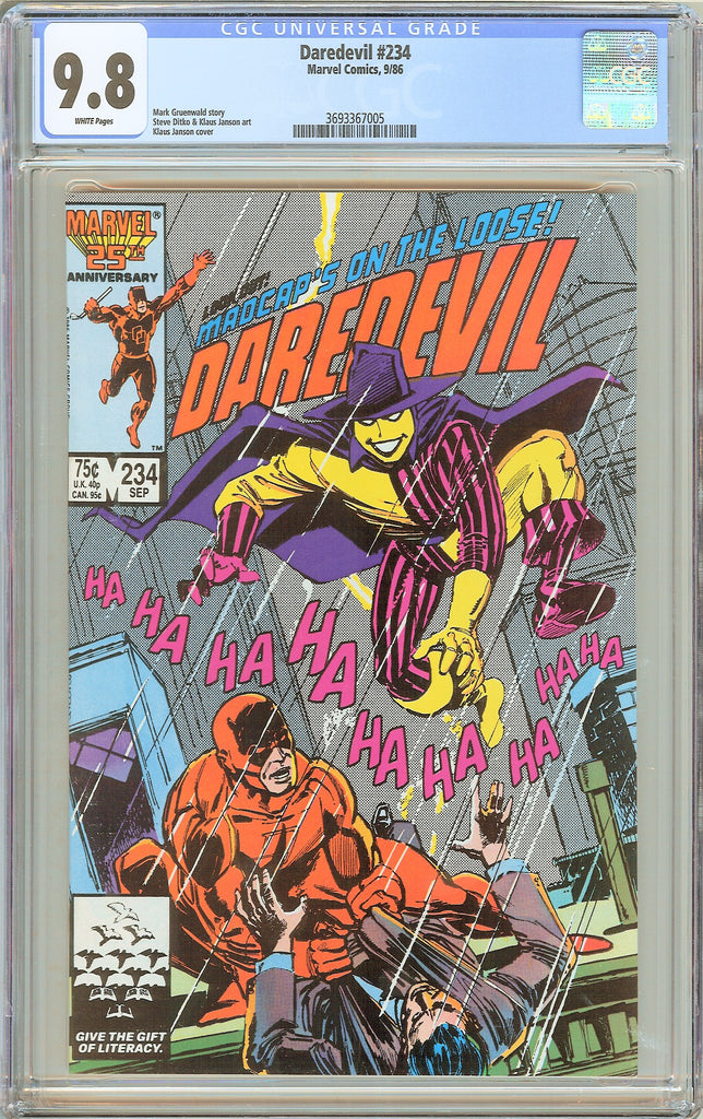 Daredevil #234 CGC 9.8 White Pages (1986) 3693367005