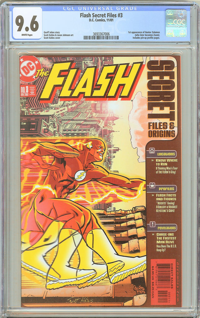 Flash Secret Files #3 CGC 9.6 White Pages 2001 3693367006