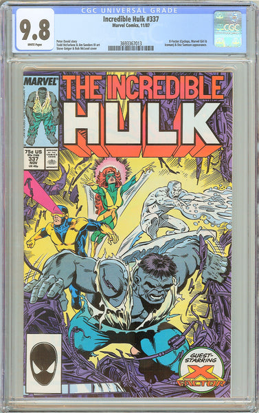 Incredible Hulk #337 CGC 9.8 White Pages 1987 3693367013