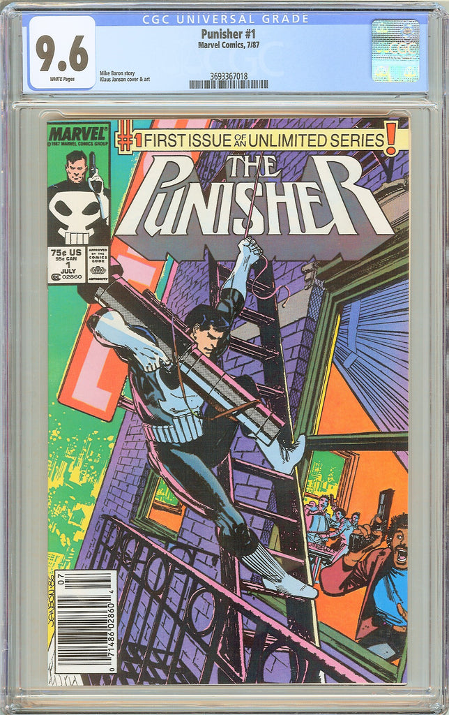 Punisher #1 CGC 9.6 White Pages 1987 3693367018