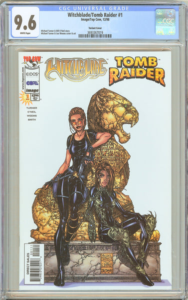 Witchblade/Tomb Raider #1 CGC 9.6 White Pages 3693367019 Variant