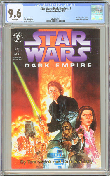 Star Wars: Dark Empire #1 (1991) CGC 9.6 White Pages 3693367021