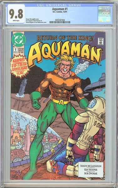 Aquaman #1 CGC 9.8 White Pages 1991 3693587004 50th Anniversary