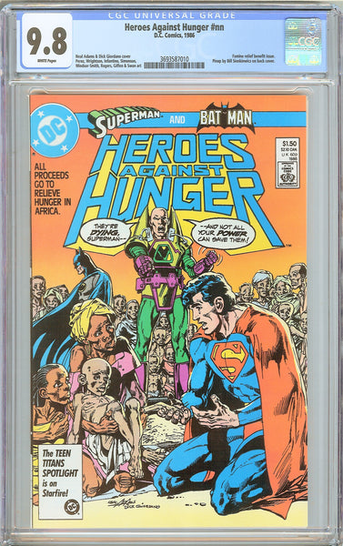 Heroes Against Hunger #nn CGC 9.8 White Pages 3693587010