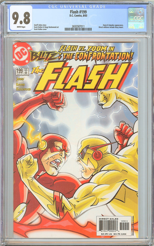 Flash #199 CGC 9.8 White Pages (2003) 3693587011