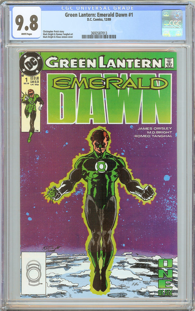 Green Lantern Emerald Dawn #1 CGC 9.8 White Pages 1989 3693587013